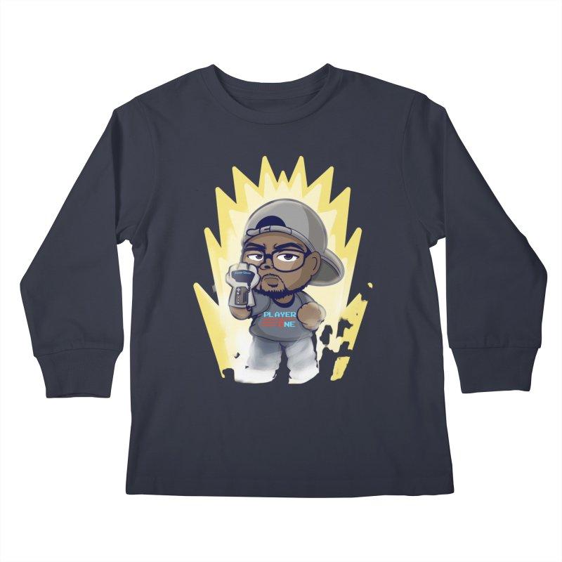 Power Up Player One Kids Longsleeve T-Shirt by itsmarkcooper's Artist Shop