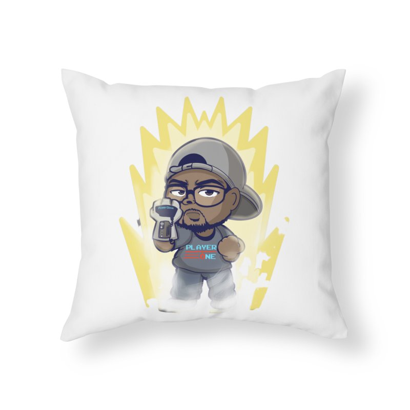 Power Up Player One Home Throw Pillow by itsmarkcooper's Artist Shop