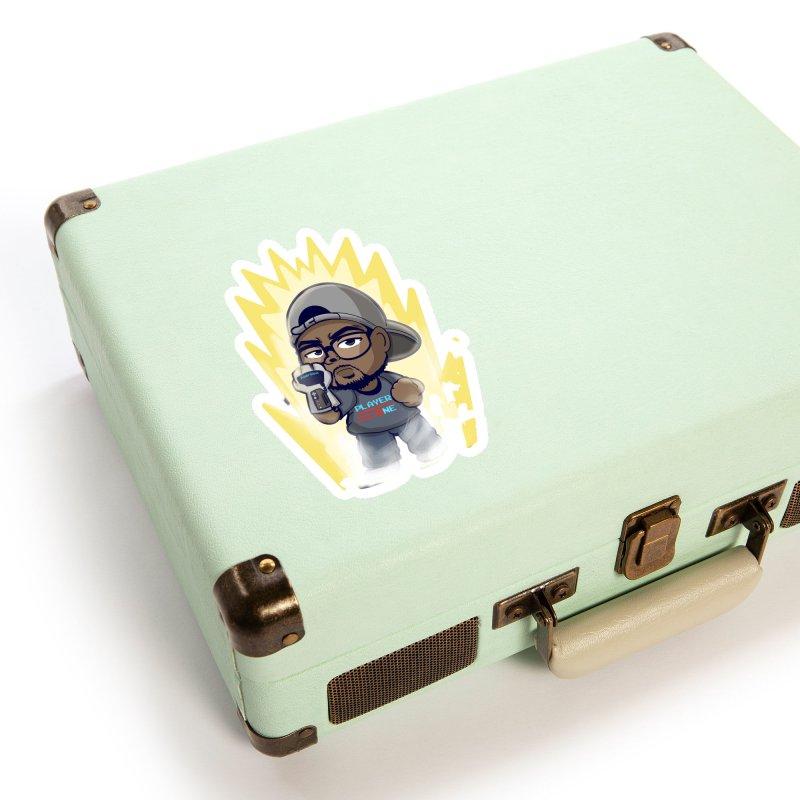 Power Up Player One Accessories Sticker by itsmarkcooper's Artist Shop