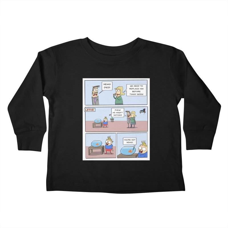 Replacing Nemo Comic - Scribbly G Kids Toddler Longsleeve T-Shirt by itsscribblyg's Artist Shop