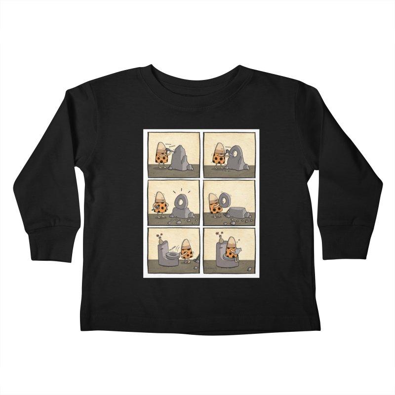 DAVEMAN webcomic Kids Toddler Longsleeve T-Shirt by itsscribblyg's Artist Shop