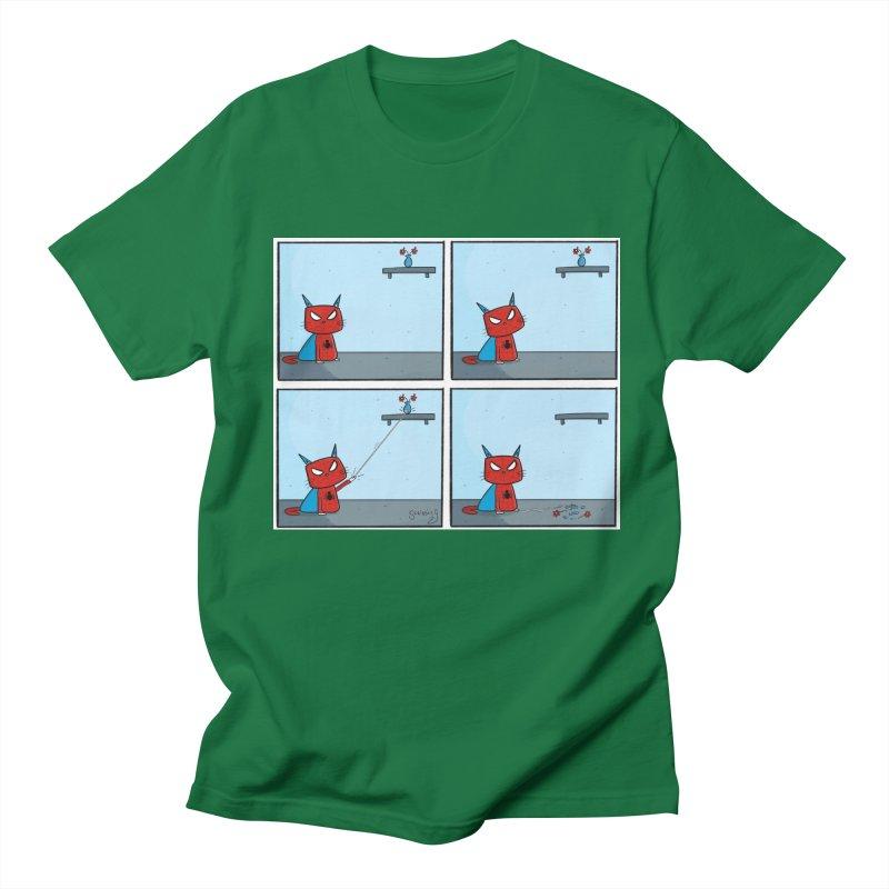 Spider-Cat Comic Men's T-Shirt by itsscribblyg's Artist Shop