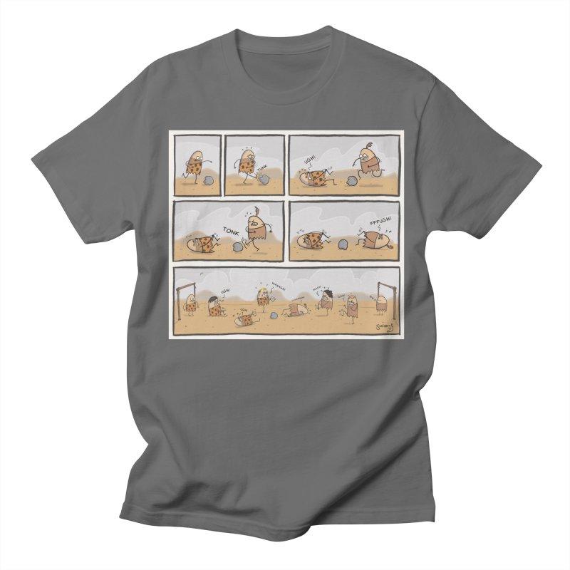Daveman Soccer Comic Men's T-Shirt by itsscribblyg's Artist Shop