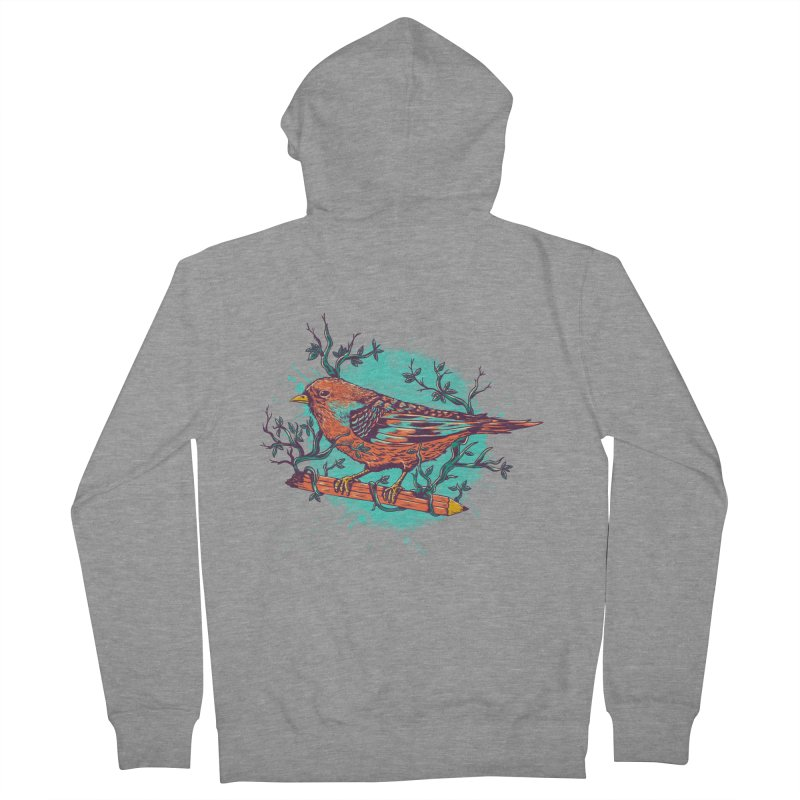 bird Men's Zip-Up Hoody by itssummer85's Artist Shop