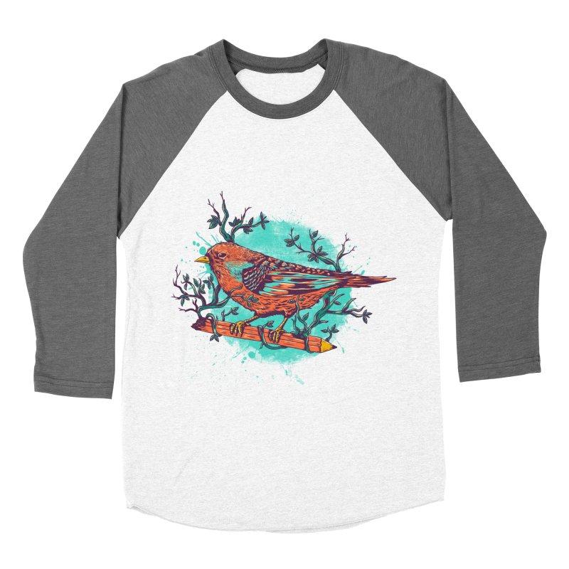 bird Men's Baseball Triblend T-Shirt by itssummer85's Artist Shop