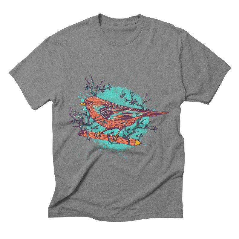 bird Men's Triblend T-shirt by itssummer85's Artist Shop