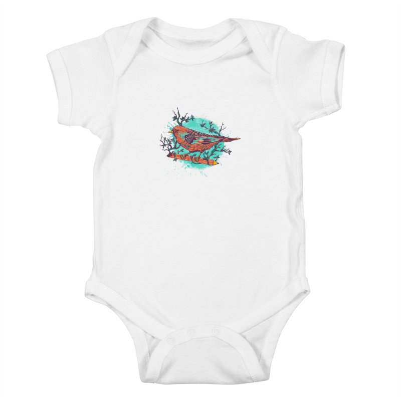 bird Kids Baby Bodysuit by itssummer85's Artist Shop