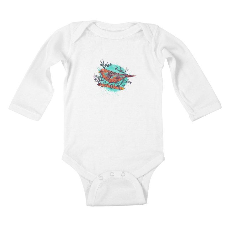 bird Kids Baby Longsleeve Bodysuit by itssummer85's Artist Shop