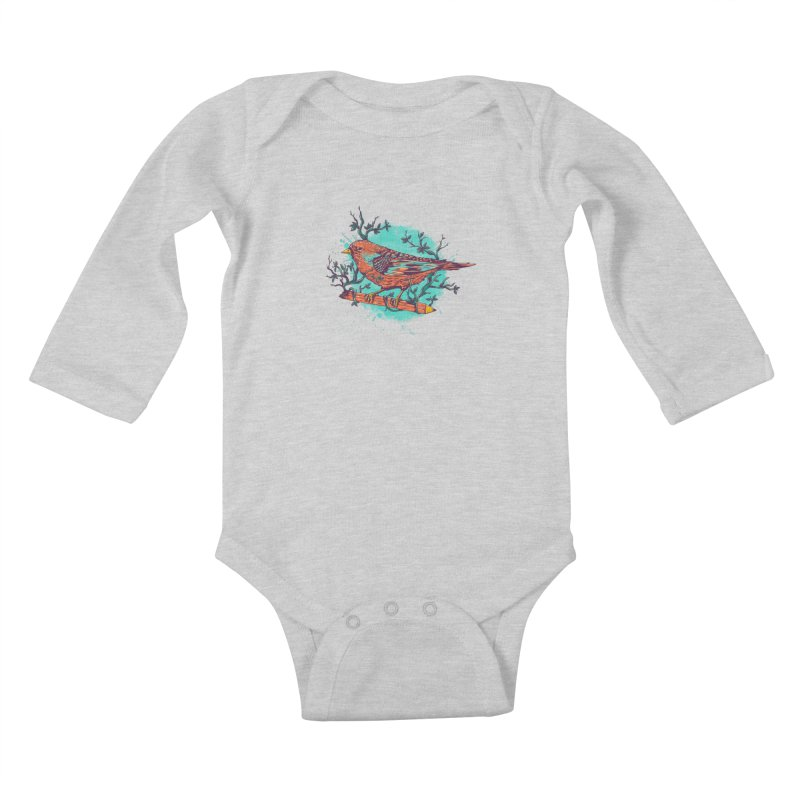 bird Kids Baby Longsleeve Bodysuit by itssummer85's Artist Shop