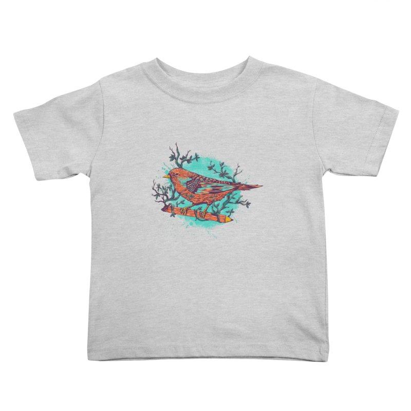 bird Kids Toddler T-Shirt by itssummer85's Artist Shop