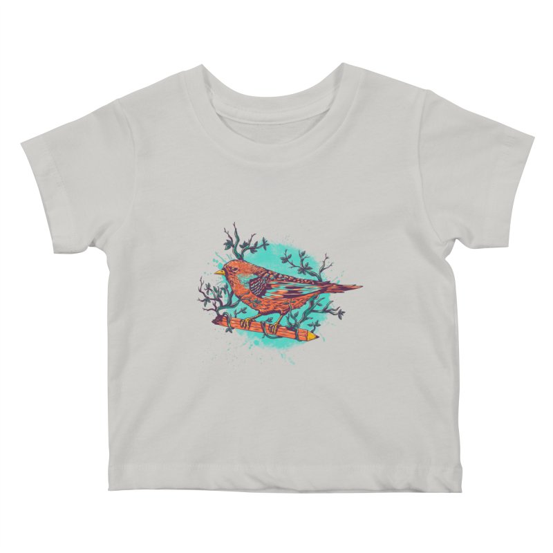 bird Kids Baby T-Shirt by itssummer85's Artist Shop