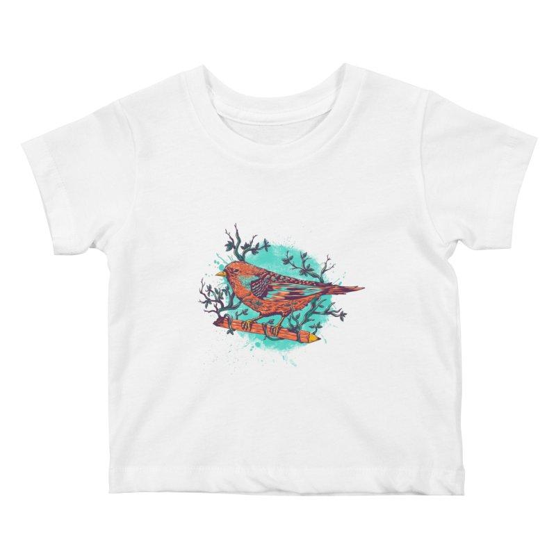 bird Kids Baby T-Shirt by itssummer85's Artist Shop