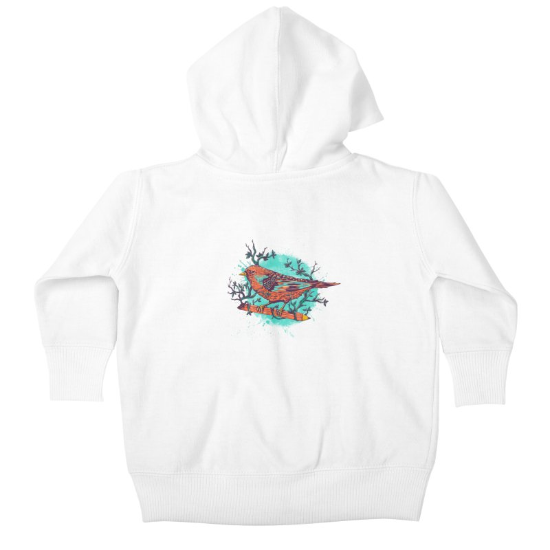 bird Kids Baby Zip-Up Hoody by itssummer85's Artist Shop