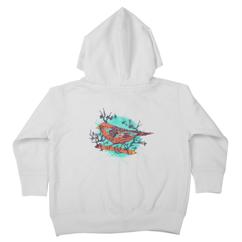 bird Kids Toddler Zip-Up Hoody by itssummer85's Artist Shop