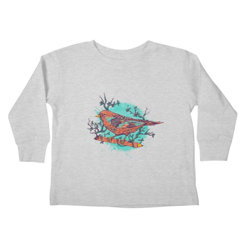 bird Kids Toddler Longsleeve T-Shirt by itssummer85's Artist Shop