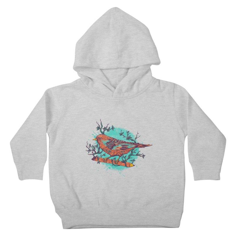 bird Kids Toddler Pullover Hoody by itssummer85's Artist Shop