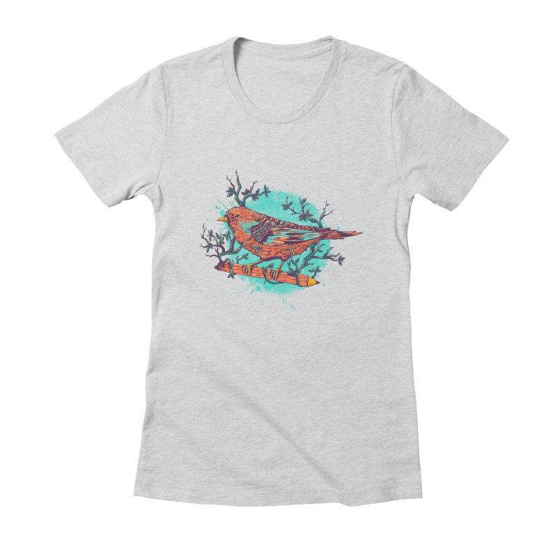 bird Women's Fitted T-Shirt by itssummer85's Artist Shop