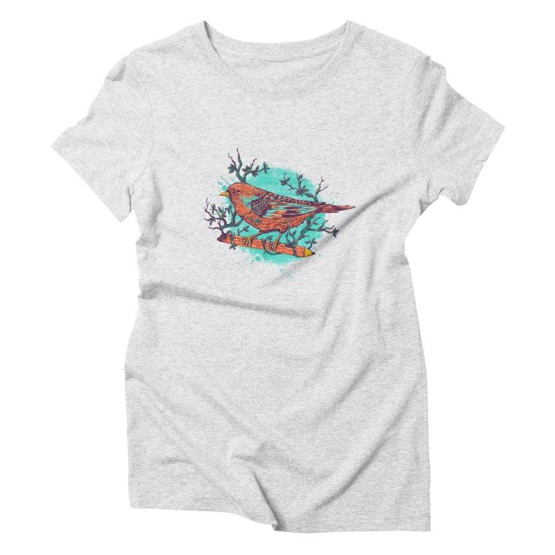 bird Women's Triblend T-shirt by itssummer85's Artist Shop