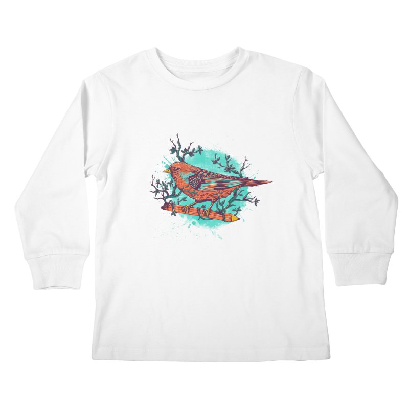 bird Kids Longsleeve T-Shirt by itssummer85's Artist Shop