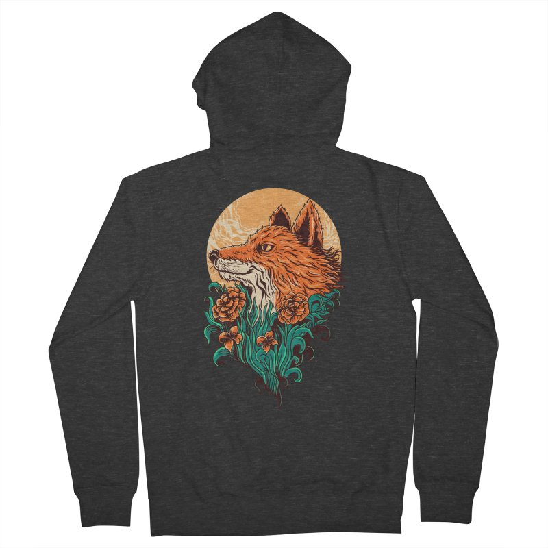 fox Men's Zip-Up Hoody by itssummer85's Artist Shop