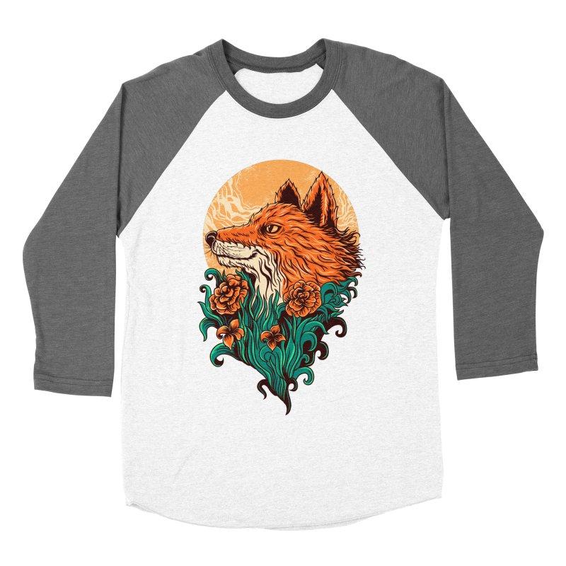 fox Men's Baseball Triblend T-Shirt by itssummer85's Artist Shop
