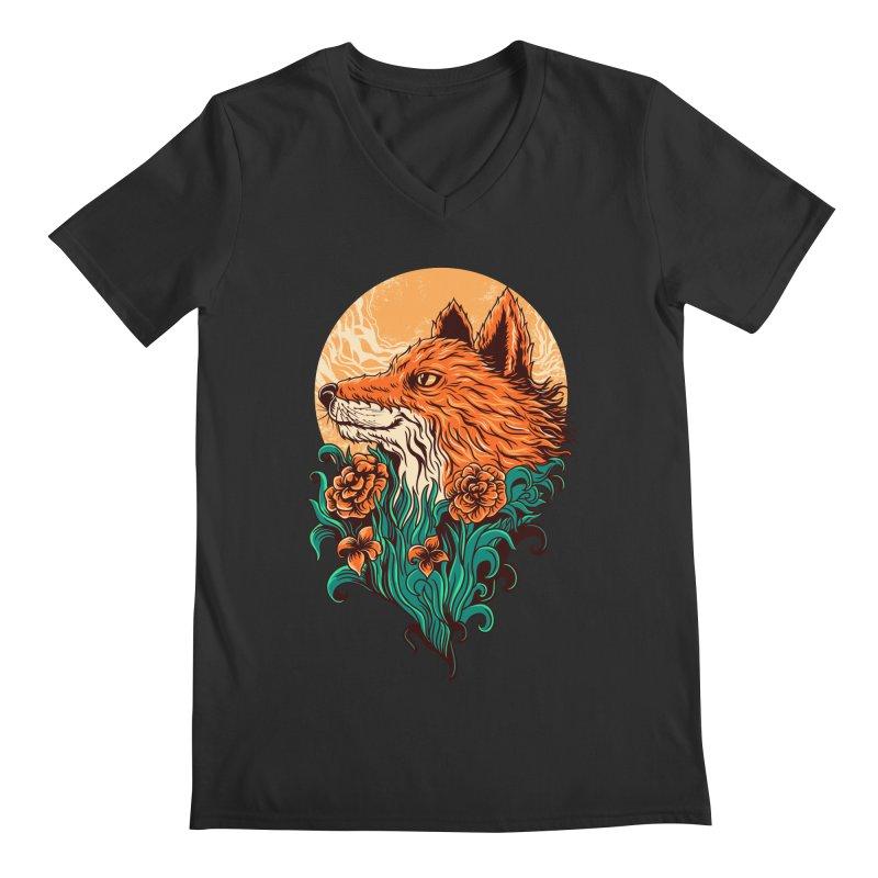 fox Men's V-Neck by itssummer85's Artist Shop