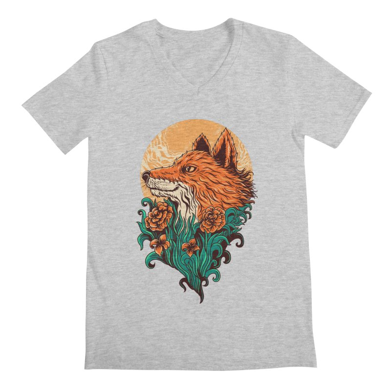 fox Men's V-Neck by itssummer85's Artist Shop