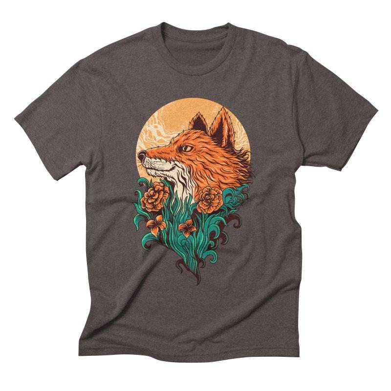 fox Men's Triblend T-shirt by itssummer85's Artist Shop