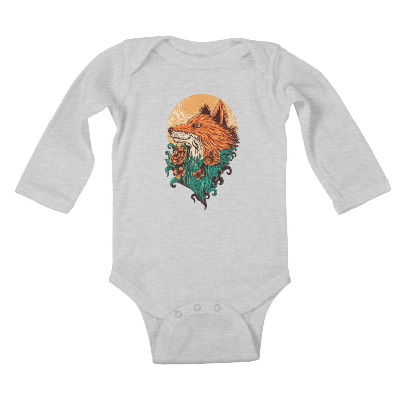 fox Kids Baby Longsleeve Bodysuit by itssummer85's Artist Shop