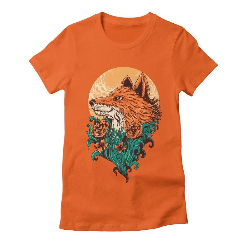 fox Women's Fitted T-Shirt by itssummer85's Artist Shop