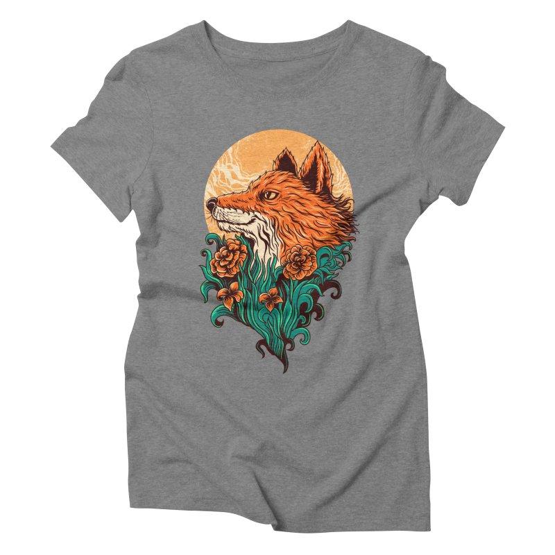 fox Women's Triblend T-shirt by itssummer85's Artist Shop
