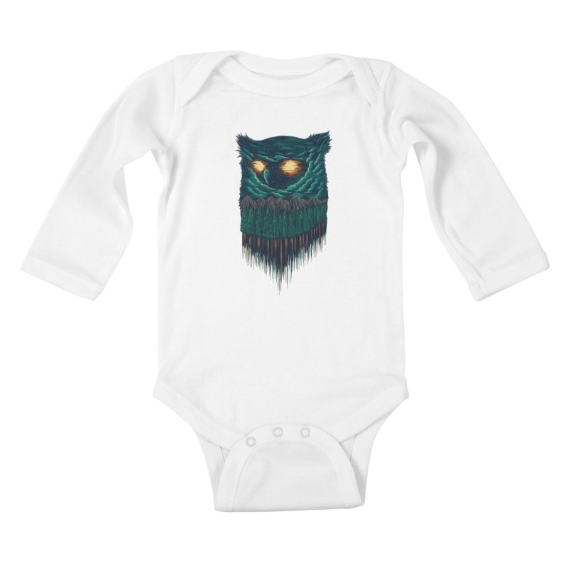 forest Kids Baby Longsleeve Bodysuit by itssummer85's Artist Shop