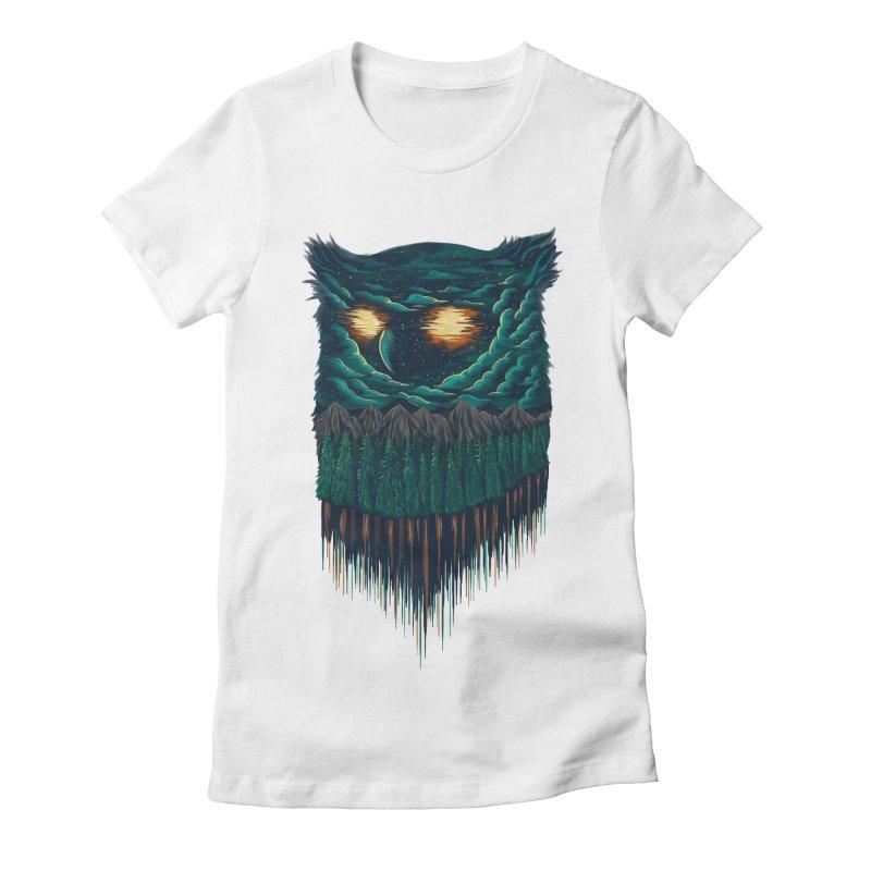 forest Women's Fitted T-Shirt by itssummer85's Artist Shop