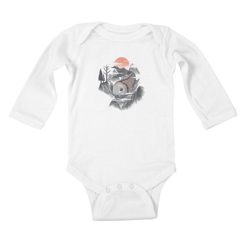 koi Kids Baby Longsleeve Bodysuit by itssummer85's Artist Shop
