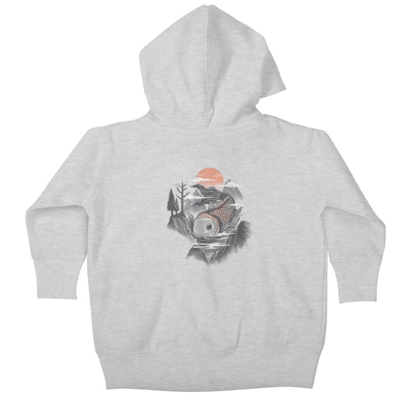koi Kids Baby Zip-Up Hoody by itssummer85's Artist Shop