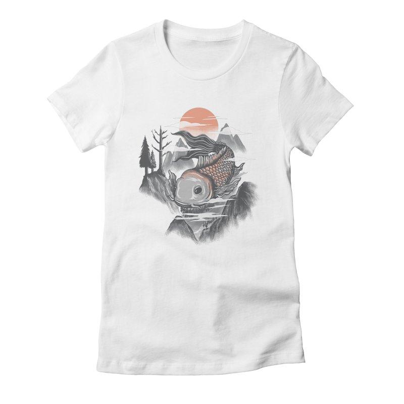 koi Women's Fitted T-Shirt by itssummer85's Artist Shop