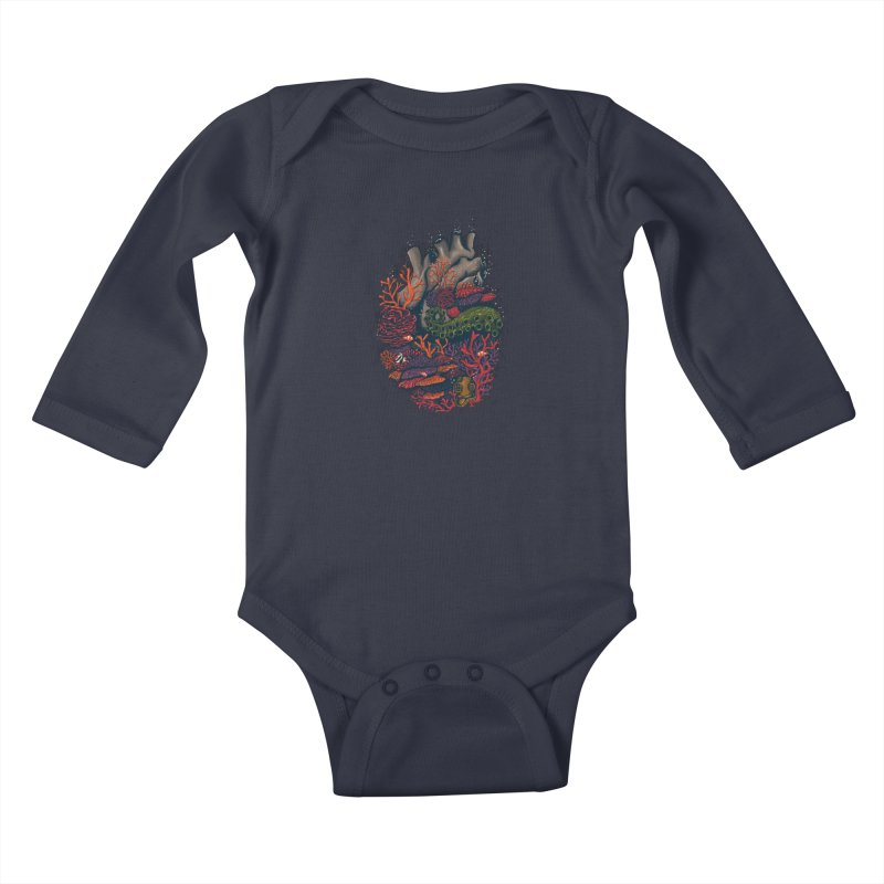 heart of the sea Kids Baby Longsleeve Bodysuit by itssummer85's Artist Shop