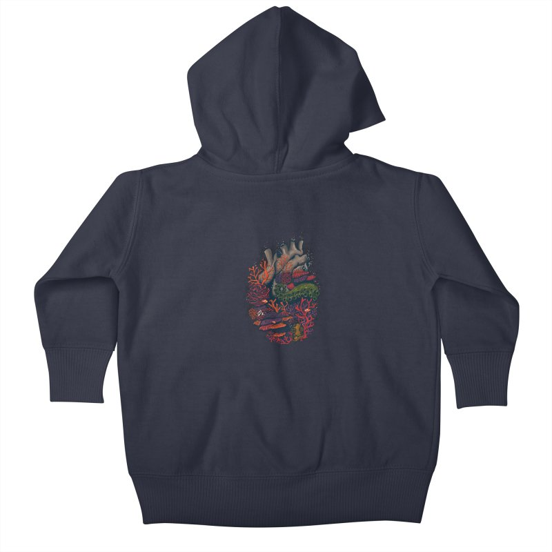 heart of the sea Kids Baby Zip-Up Hoody by itssummer85's Artist Shop