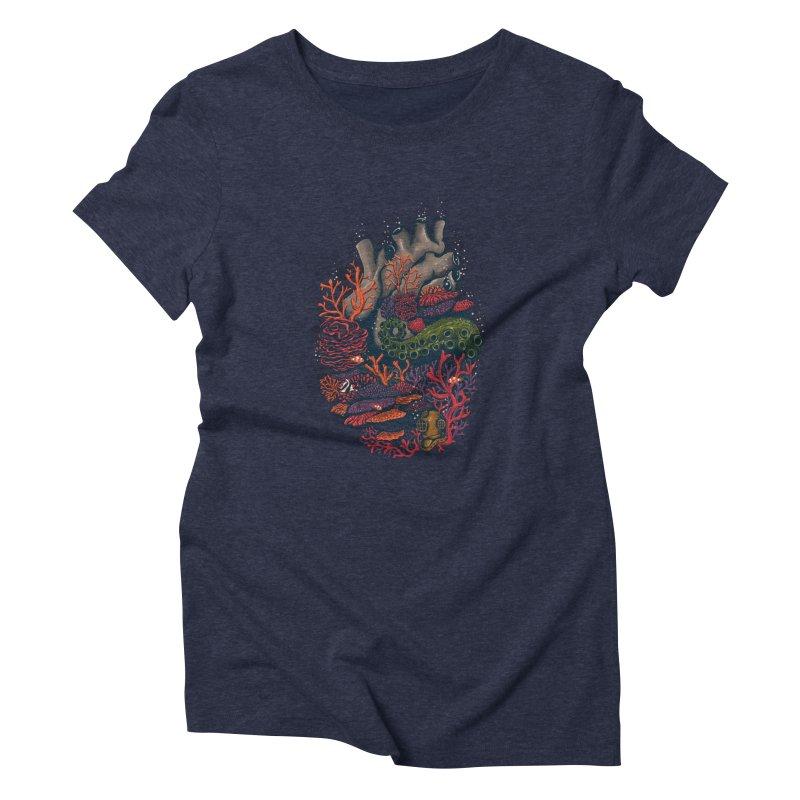 heart of the sea Women's Triblend T-shirt by itssummer85's Artist Shop