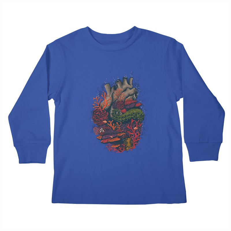heart of the sea Kids Longsleeve T-Shirt by itssummer85's Artist Shop