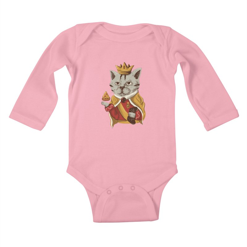 lord cat the great Kids Baby Longsleeve Bodysuit by itssummer85's Artist Shop