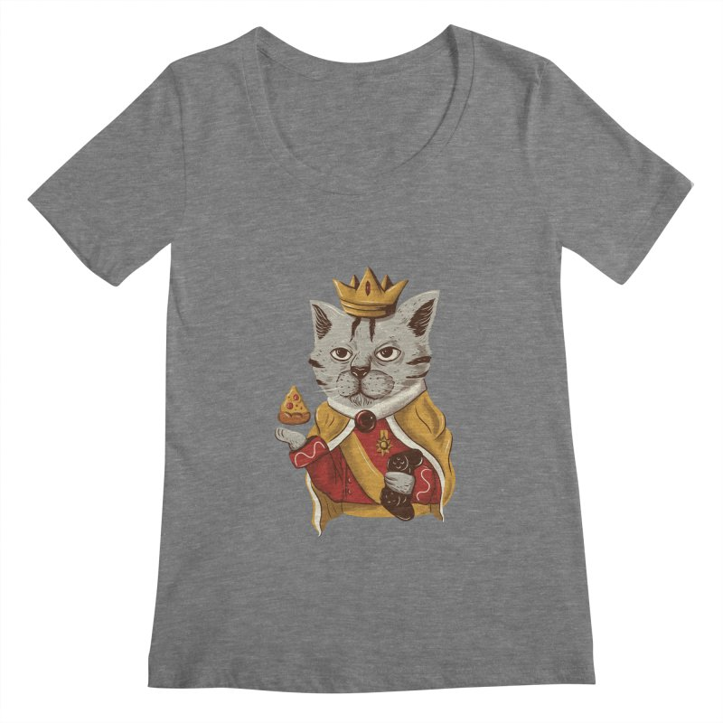 lord cat the great Women's Scoopneck by itssummer85's Artist Shop