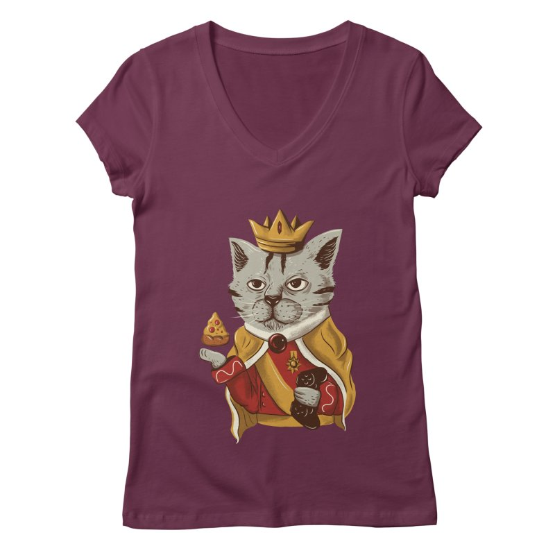 lord cat the great Women's V-Neck by itssummer85's Artist Shop