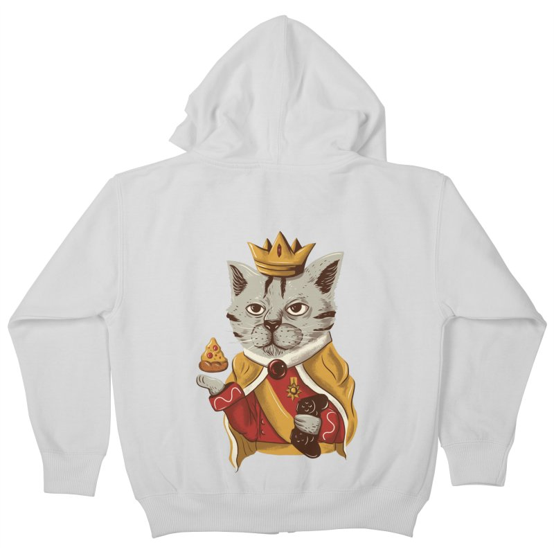 lord cat the great Kids Zip-Up Hoody by itssummer85's Artist Shop