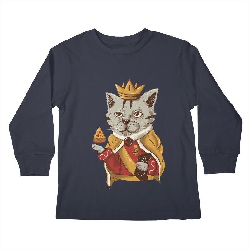 lord cat the great Kids Longsleeve T-Shirt by itssummer85's Artist Shop