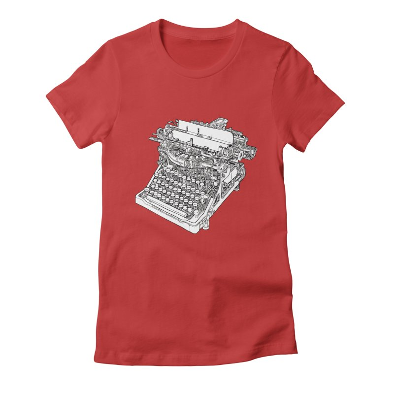 Retrype Women's Fitted T-Shirt by IVAN CASIS APPAREL SHOP