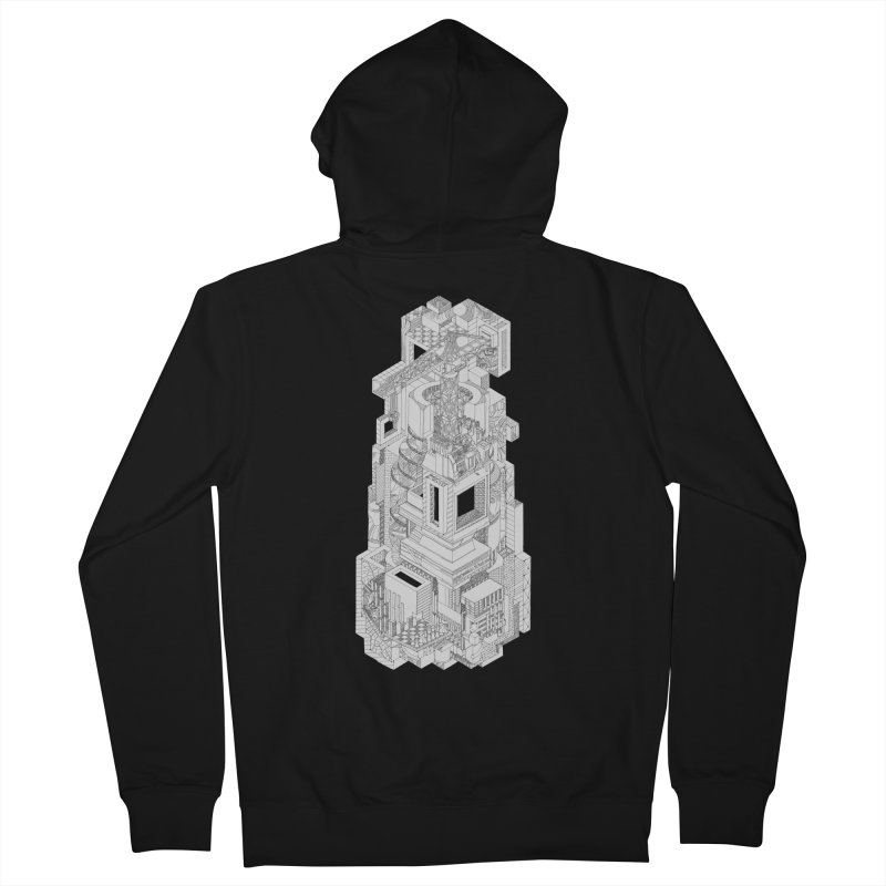 Deconstruction  Women's French Terry Zip-Up Hoody by IVAN CASIS APPAREL SHOP
