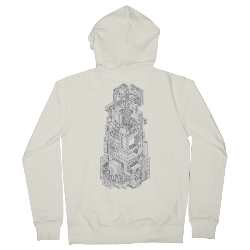 Deconstruction  Women's Zip-Up Hoody by IVAN CASIS APPAREL SHOP