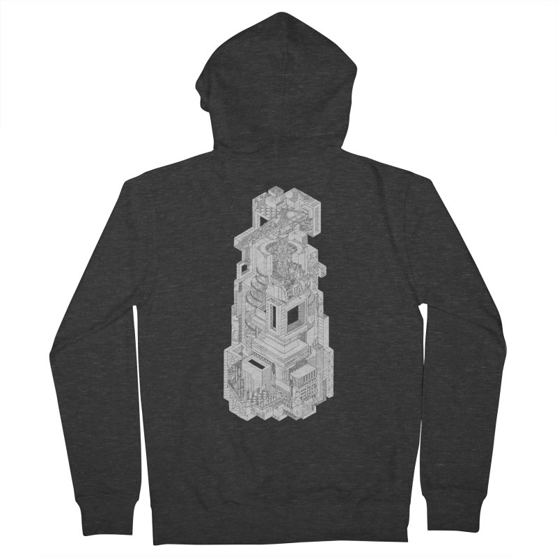 Deconstruction  Men's French Terry Zip-Up Hoody by IVAN CASIS APPAREL SHOP