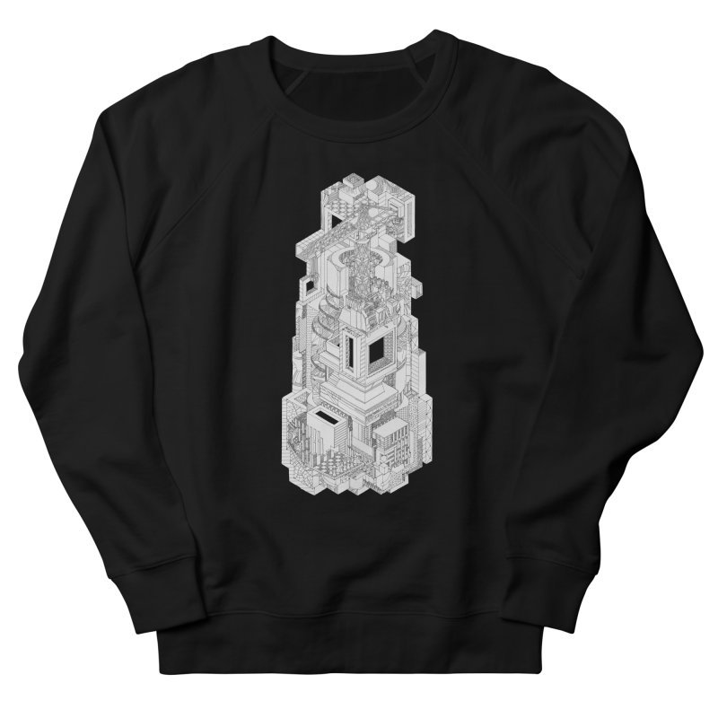 Deconstruction  Men's French Terry Sweatshirt by IVAN CASIS APPAREL SHOP
